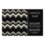 Geometric Pattern Fashion Black And White Chevron Flyer