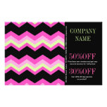 Geometric Pattern Fashion Pink And Black Chevron Flyer