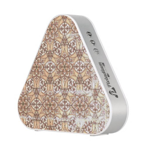 Geometric Pattern Fleur de Lis in Black and White Bluetooth Speaker