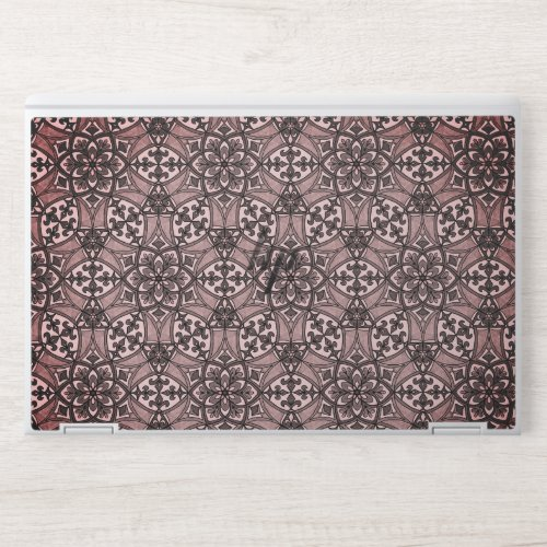 Geometric Pattern Fleur de Lis in Black and White HP Laptop Skin