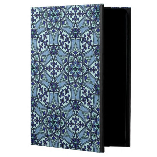 Geometric Pattern Fleur de Lis in Blue Powis iPad Air 2 Case