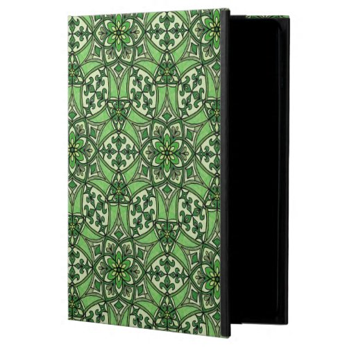 Geometric Pattern Fleur de Lis in Green Powis iPad Air 2 Case