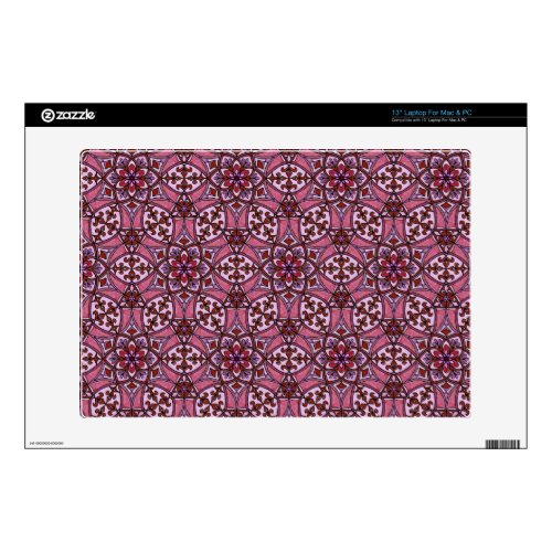 Geometric Pattern Fleur de Lis in Pink 13&quot&#x3B; Laptop Decal