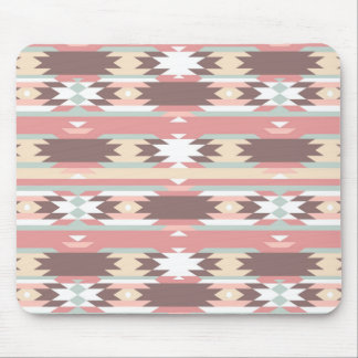 Geometric pattern in aztec style 2 mouse pad