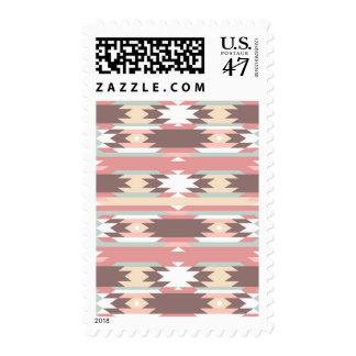 Geometric pattern in aztec style 2 postage