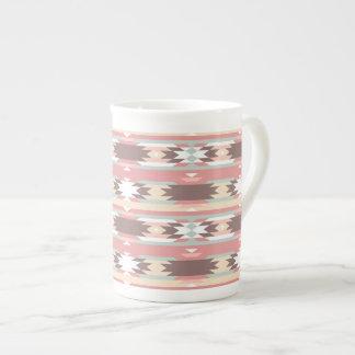 Geometric pattern in aztec style 2 tea cup