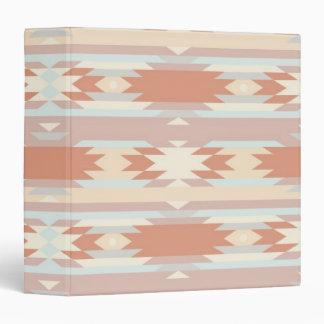 Geometric pattern in aztec style 3 binder