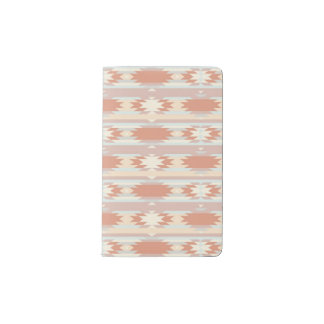 Geometric pattern in aztec style 3 pocket moleskine notebook cover with notebook