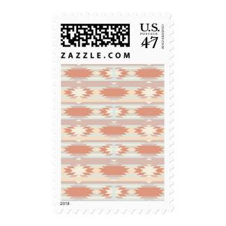 Geometric pattern in aztec style 3 postage