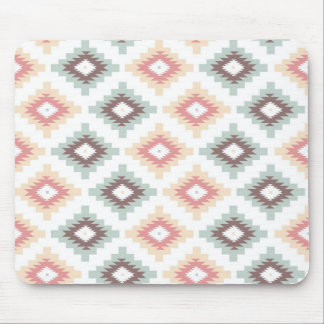 Geometric pattern in aztec style mouse pads