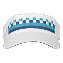 Geometric pattern in blue visor