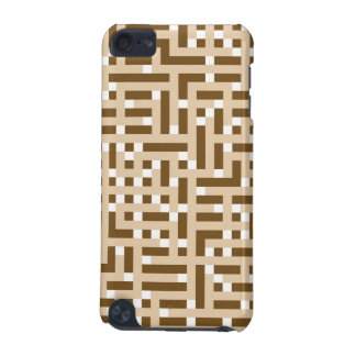 Geometric Pattern in Brown, Beige and White. iPod Touch (5th Generation) Case