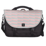 Geometric Pattern in Pink and Gray. Laptop Messenger Bag