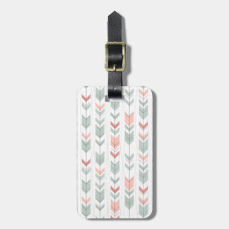 Geometric pattern in retro style tags for luggage
