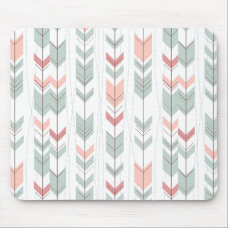 Geometric pattern in retro style mouse pad