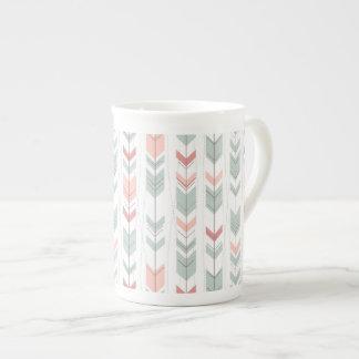 Geometric pattern in retro style tea cup