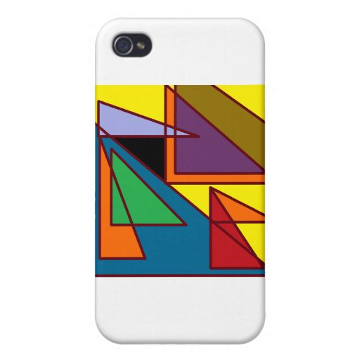 Geometric Pattern IPod Skin Covers For iPhone 4