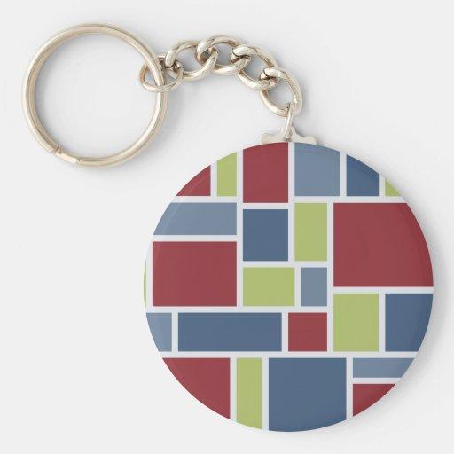 Geometric Pattern key chain