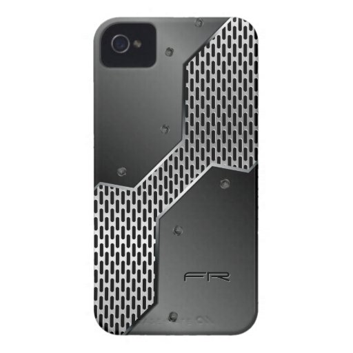 Geometric Pattern. Metallic Look iPhone 4 Case