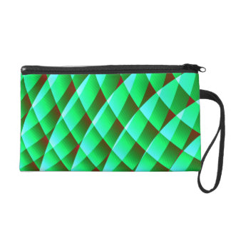 geometric pattern mf wristlet