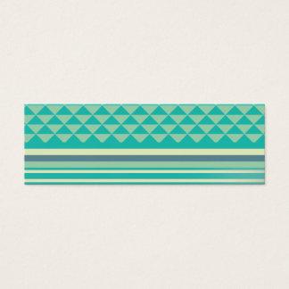 geometric pattern mini business card