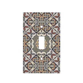 Geometric Pattern Monogram Warm Grey ID162 Light Switch Cover