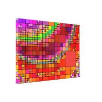 Geometric Pattern Mosaic  Multi Color Canvas Print