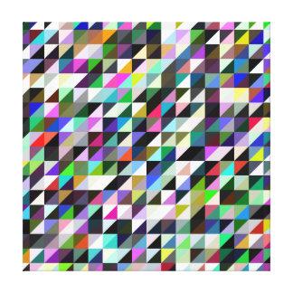 Geometric Pattern - Multicolored Triangles Canvas Print