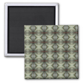 Geometric Pattern of Flower 2 Inch Square Magnet