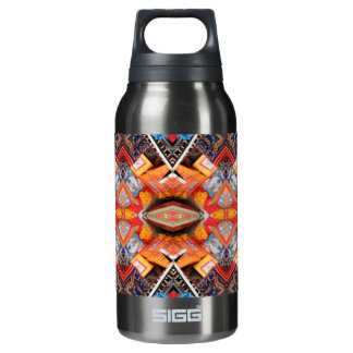 Geometric pattern Oranges 10 Oz Insulated SIGG Thermos Water Bottle