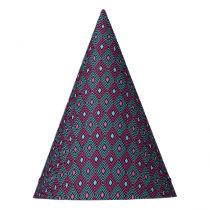Geometric pattern party hat