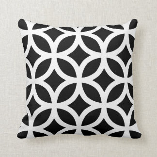 Geometric Pattern Pillow in Black and White