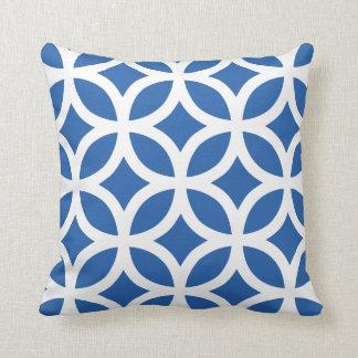 Geometric Pattern Pillow in Cobalt Blue