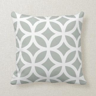 Geometric Pattern Pillow in Silver Gray