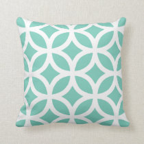 Geometric Pattern Pillow in Turquoise
