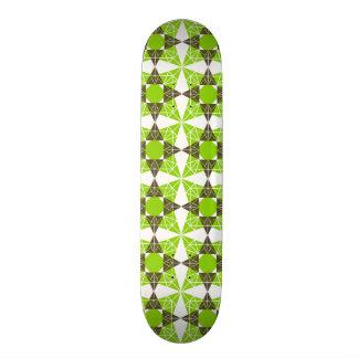 Geometric pattern skateboard deck
