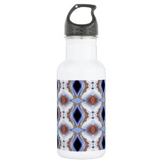 Geometric pattern stainless steel water bottle
