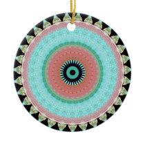Geometric pattern Totem to inver itself Ceramic Ornament