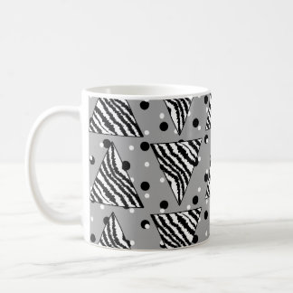 Geometric Pattern with Zebra Stripes and Dots. Coffee Mug