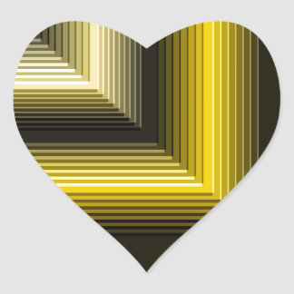 geometric pattern yellow black heart sticker