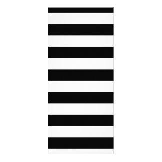 Geometric Patterns Black and White Stripes Rack Card