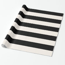 Geometric Patterns Black and White Stripes Wrapping Paper