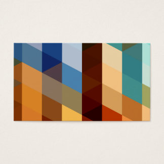 Geometric Patterns | Blue and Orange Triangles Business Card