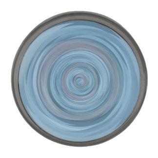 Geometric Patterns   Blue Circles   Vortex Gunmetal Finish Lapel Pin