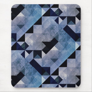 Geometric Patterns | Blue Triangles and Diamonds Mouse Pad