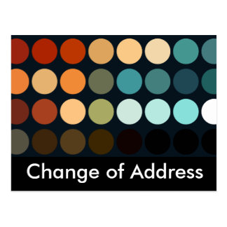 Geometric Patterns | Change of Address Postcard