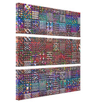 geometric patterns collection canvas print