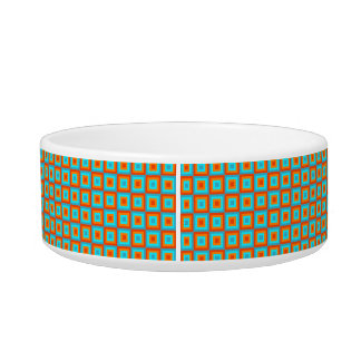 Geometric Patterns Color Turquoise Orange Bowl