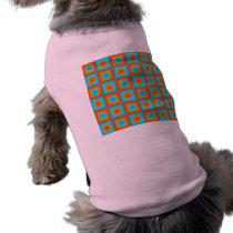 Geometric Patterns Color Turquoise Orange Shirt