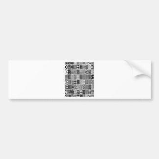 Geometric patterns design bumper sticker